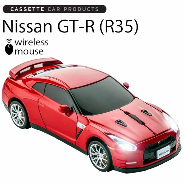 送料無料 カセットカーマウス 日産 GT-R R35 レッ...