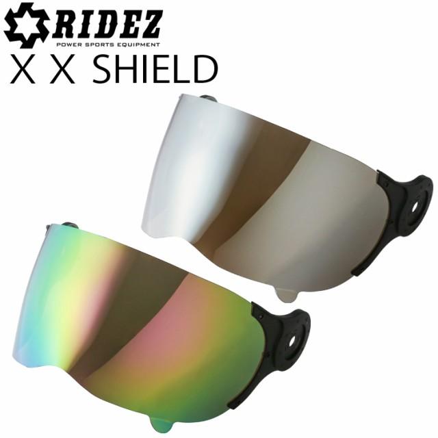 RIDEZ ライズ XXヘルメット用ミラー系シールド単...