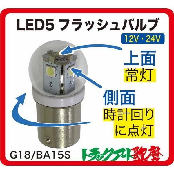 LED5 フラッシュバルブ ゆっくり回転(時計回り)...