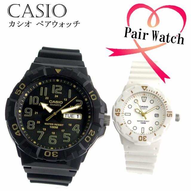 【ペアウォッチ】 カシオ CASIO クオーツ チープカシオ ラバー カジュアル 腕時計 MRW-210H-1A2 LRW200H-7E2 【激安】 【SALE】
