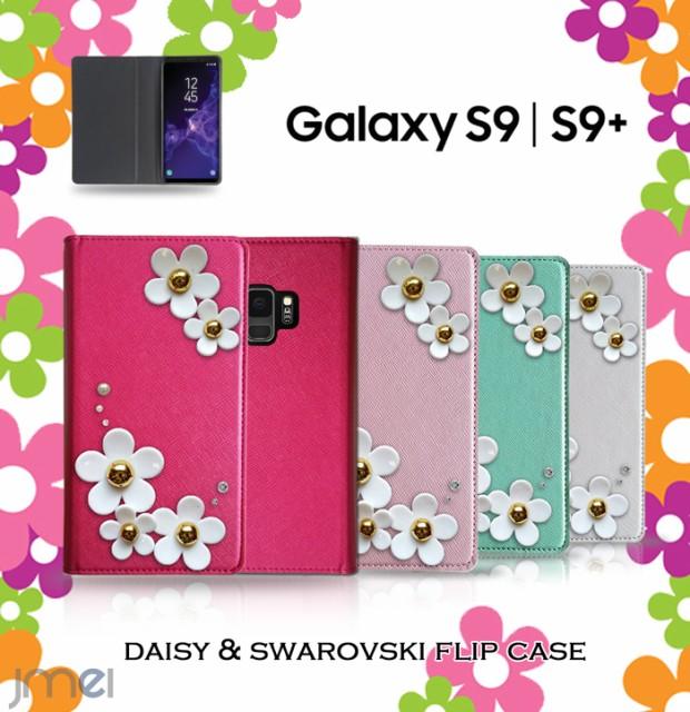 Galaxy S9 S9+ S9 Plus ケース スワロフスキー 手...