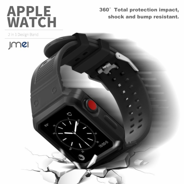 apple watch バンド 耐衝撃 ケース 一体型 42mm 3...
