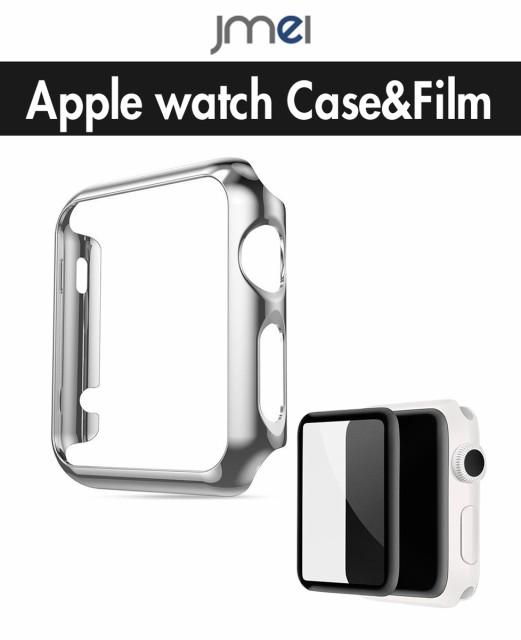 apple watch カバー 液晶保護ガラスフィルム セッ...