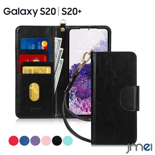 Galaxy S20 ケース 手帳 PUレザー ストラップ付き...