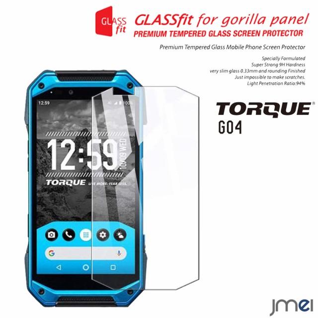TORQUE G04 ガラスフィルム 9H 液晶保護 強化ガラ...