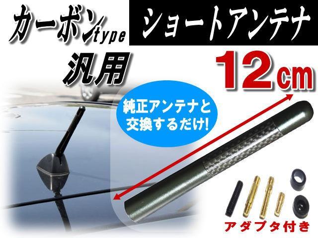 カーボンアンテナ 黒 12cm 【商品一覧】メタル軸...