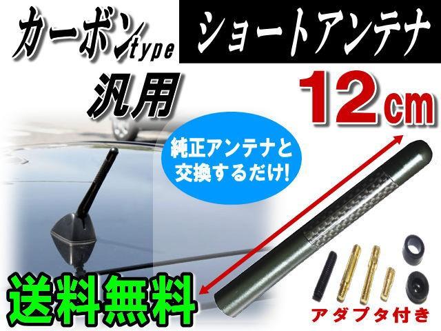 カーボンアンテナ黒12cm//【メール便 送料無料】...