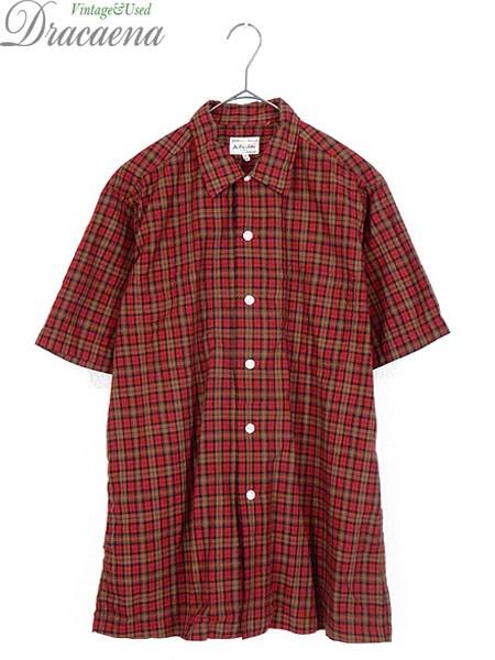 古着 半袖シャツ 60s Hathaway トラッド チェック...