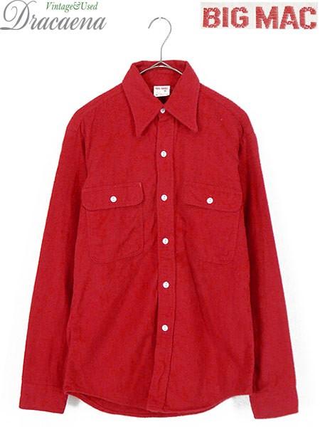 古着 シャツ 70s 単色タグ BIG MAC ソリッド 100%...