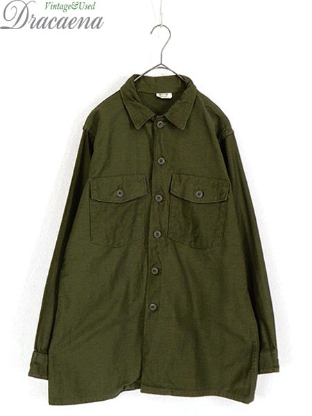 古着 シャツ 60s 米軍 シンプル 100% コットンサ...