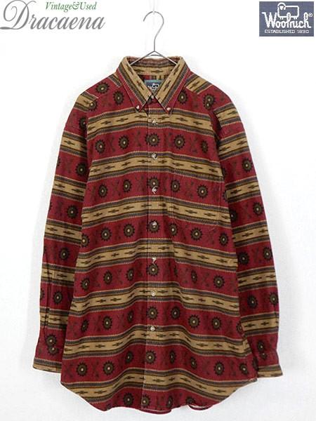 古着 シャツ 90s USA製 WoolRich カラフル ネイテ...