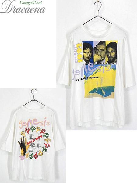 古着 Tシャツ 90s Genesis 「We Can't Dance」 貴...