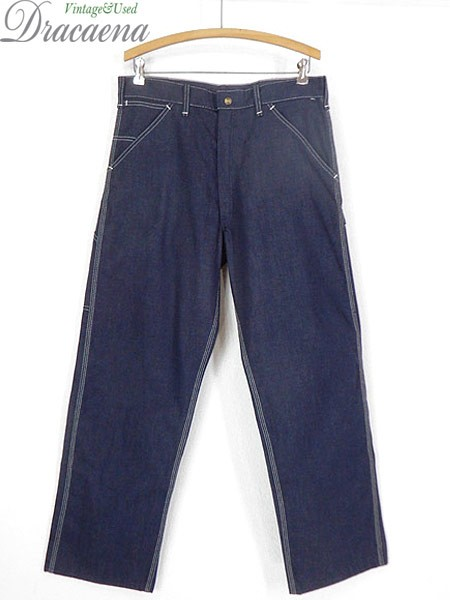 古着 パンツ 70s USA製 Sears 濃紺 デニム ワーク...