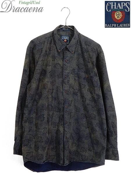 古着 シャツ CHAPS Ralph Lauren ラルフ 木の葉 ...
