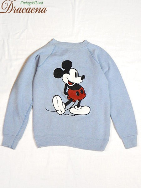 古着 キッズ 80s USA製 Walt Disney ミッキー ス...