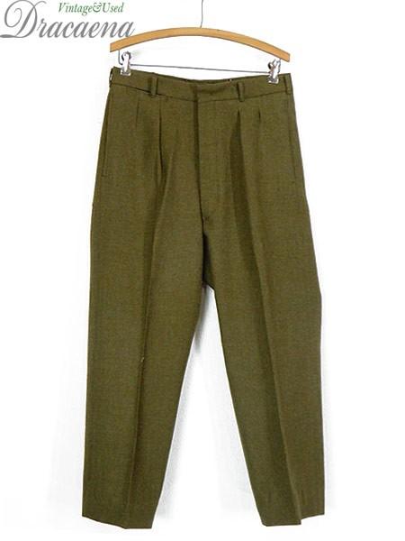 古着 パンツ 70s オーストラリア軍 片ポケ ボタン...
