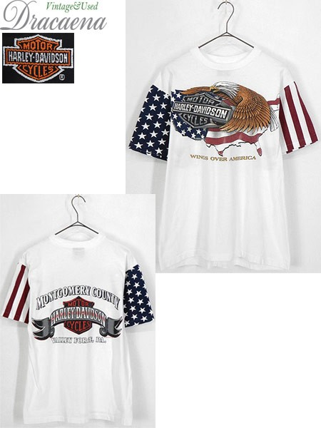 古着 Tシャツ 90s USA製 HARLEY DAVIDSON イーグ...