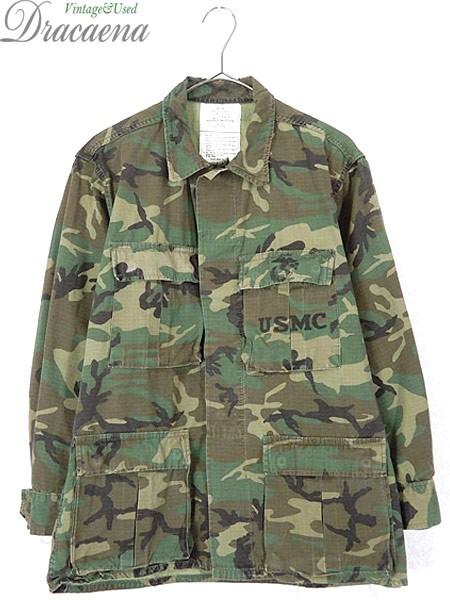 古着 ジャケット 81s 米軍 USMC ウッドランド 迷...