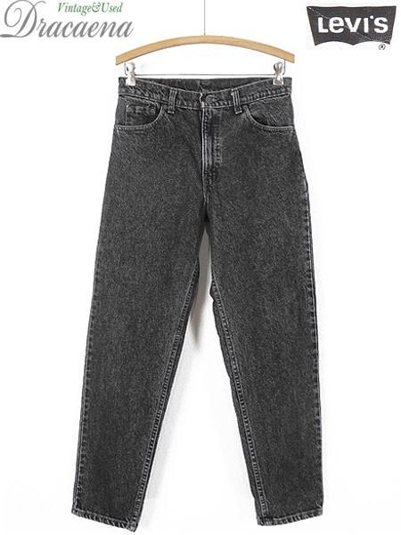 古着 パンツ 90s USA製 Levi's 550 ブラック ケミ...
