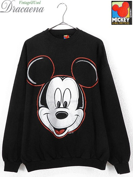 古着 スウェット 90s USA製 Disney Mickey Mouse ...