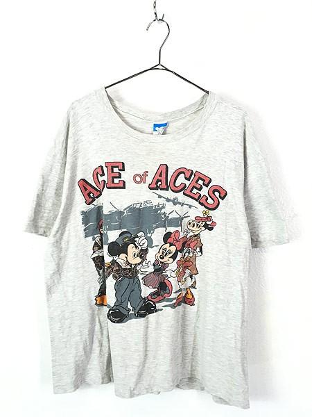 古着 80s USA製 Disney Mickey 「ACE of ACE」 ミ...