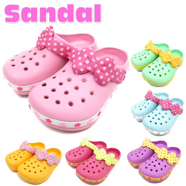 子供 女の子 EVA サンダル 靴 2way リボン型スト...
