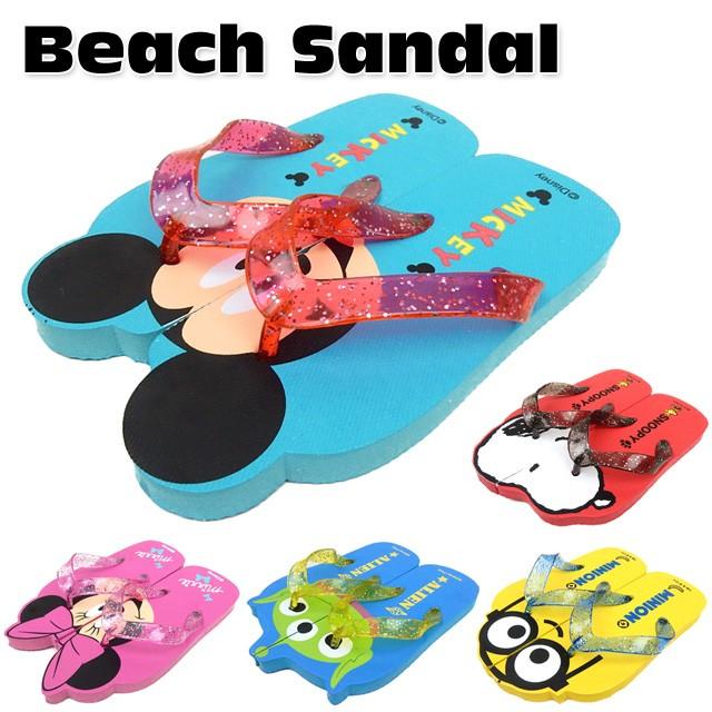 子供 男の子 女の子 ビーチ サンダル 靴 ミッキー...