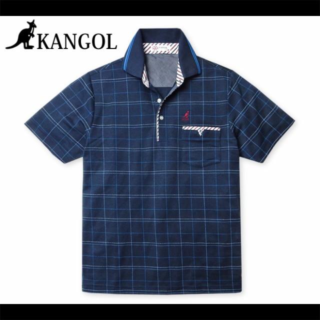 メンズ ポロシャツ 半袖 KANGOL カンゴール 鹿の...