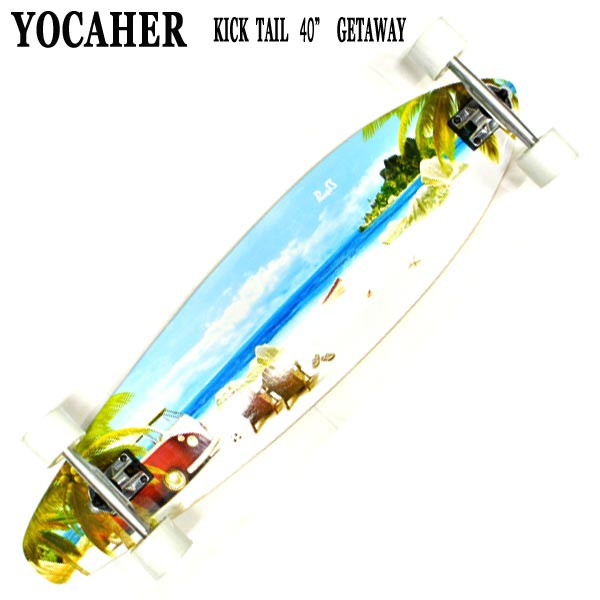 YOCAHER スケートボード KICK TAIL 40 GETAWAY サ...