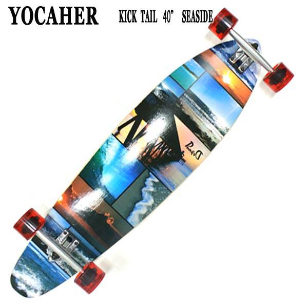YOCAHER スケートボード KICK TAIL 40 SEA SIDE ...