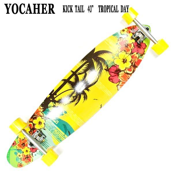 YOCAHER スケートボード KICK TAIL 40 TROPICAL D...