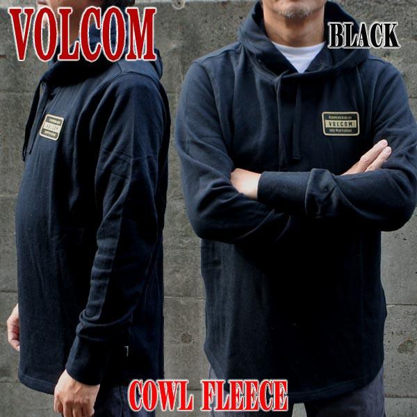 VOLCOM/ボルコム COWL FLEECE BLACK メンズ 男性...