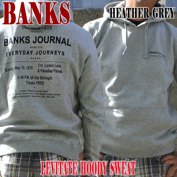 BANKS/バンクス LEVITATE PULLOVER HEATHER GREY ...