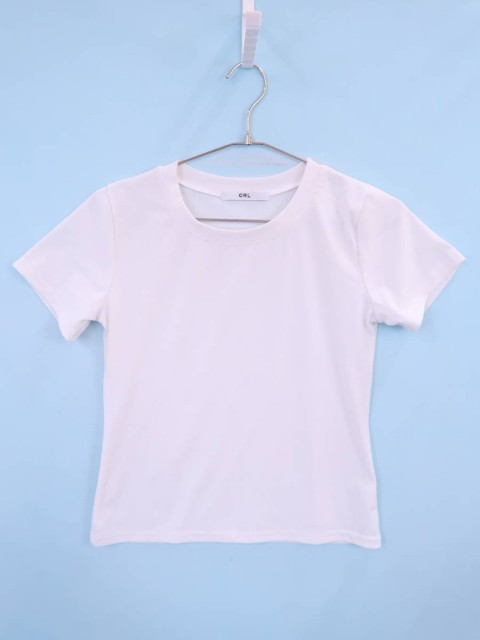 GRL(グレイル)ベーシックTシャツ 半袖 白 レディ...