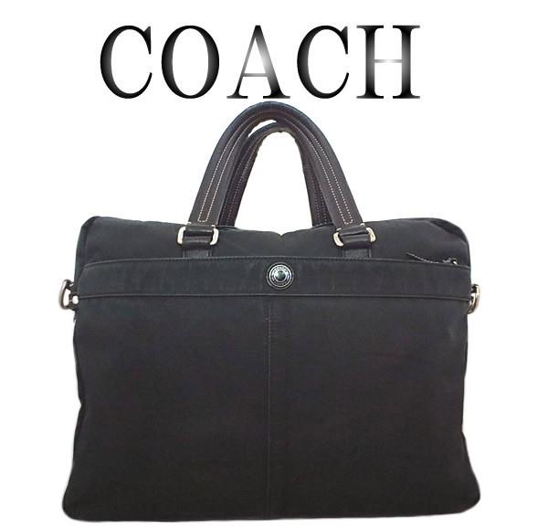 COACH コーチ 2WAY ナイロン ビジネスバッグ...
