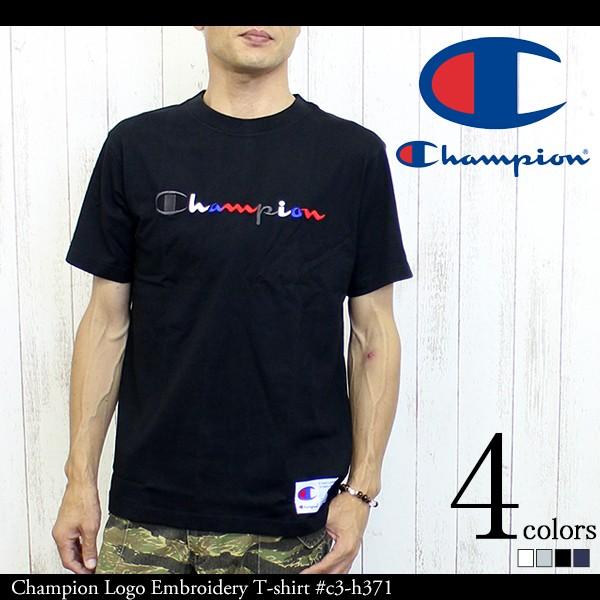 Champion チャンピオン ロゴ刺繍 Tシャツ #c3-h3...