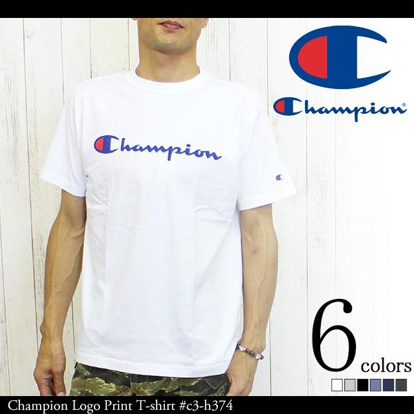 Champion チャンピオン ロゴプリントTシャツ #c3-...