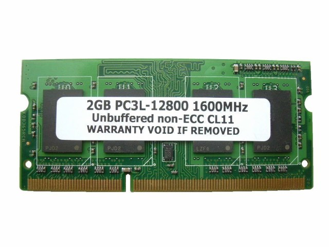 2GB PC3L-12800 DDR3 1600 204pin SODIMM PCメモ...
