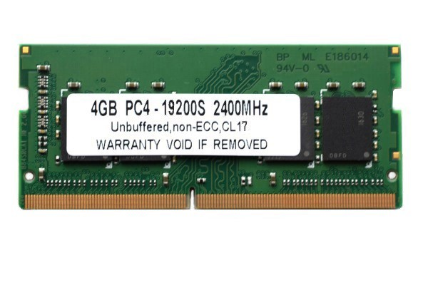 SODIMM 4GB PC4-19200 DDR4 2400 260pin CL17 Mac...