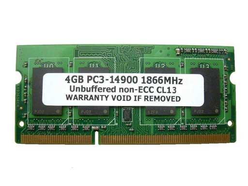 SODIMM 4GB PC3-14900 DDR3 1866 (1867MHz) 204pi...