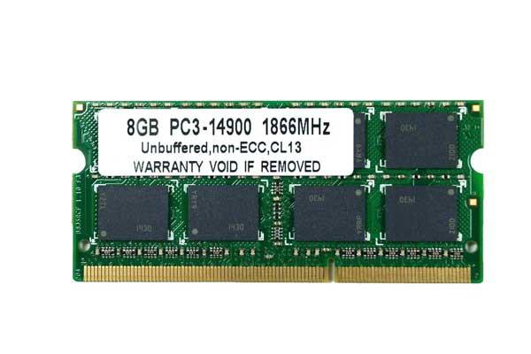 SODIMM 8GB PC3-14900 DDR3 1866 (1867MHz) 204pi...