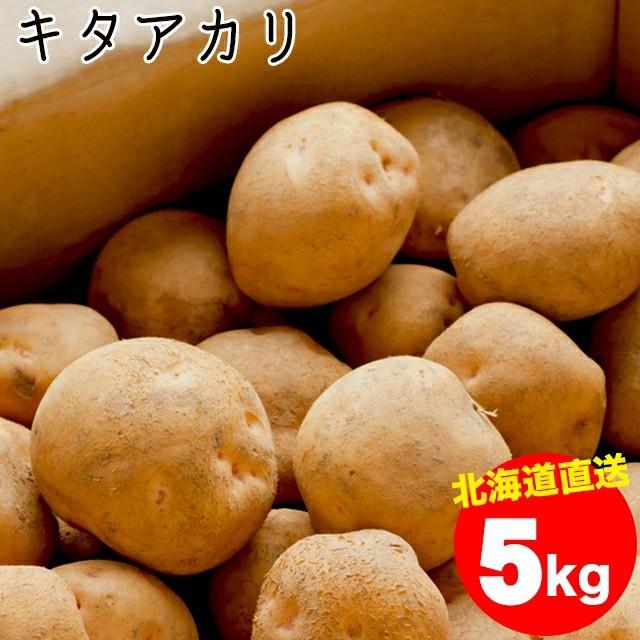 今季出荷開始中!越冬じゃがいも 送料無料 北海道産 じゃがいも キタアカリ【M-2L混合】1箱 5キロ入 / 5kg 5キロ 5