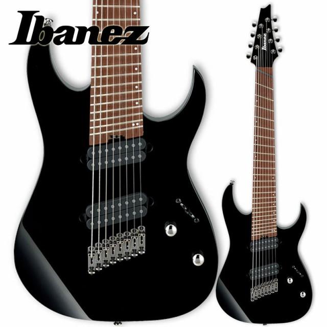 Ibanez RGMS8-BK (Black) マルチ・スケール8弦エ...