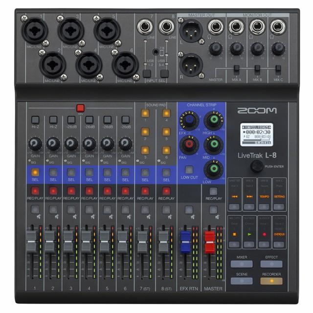 ZOOM LIVETRAK L-8  8-Track Live Mixer / Record...