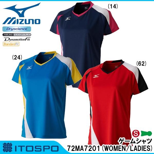 物流セール ミズノ ゲームシャツ 72MA7201(レディ...