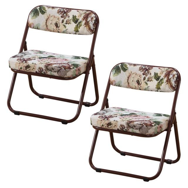 折りたたみ座椅子 ローチェアー 完成品 座面低め ...