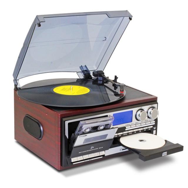 オーディオ・レコードプレーヤー CDラジカセ デジ...