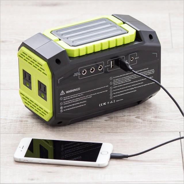 防災グッズ 蓄電池 家庭用 150W 非常用電源 小型 ポータブル電源 ...