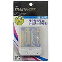 送料無料スマートフォン用乾電池式単3×4本USBタ...