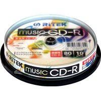 送料無料!ライテック製 RiTEK CD-R 音楽用 10枚...